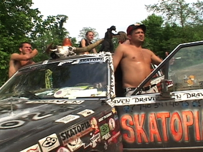 The Limo Guys: Skatopians ride in style in Skatopia's custom coach