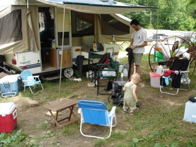 This pop-up camper was Camp Documentary at the Bowl Bash